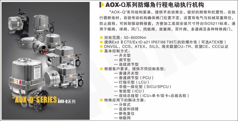 AOX-Q系列防爆角行程电动执行器