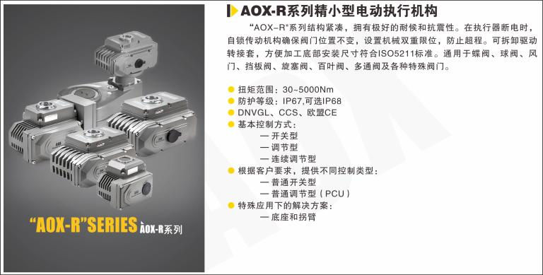 AOX-R系列精小型电动执行器